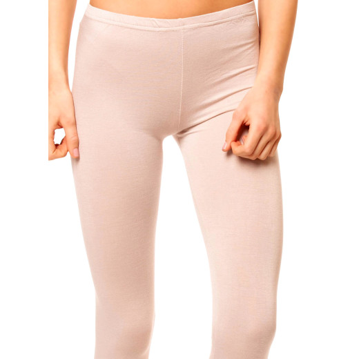 Basic Capri Leggings Beige