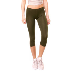 Basic Capri Leggings Khaki